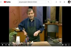 Legendary French chef Jacques Pépin debones a whole chicken in a video that's been viewed nearly 600,000 times on YouTube.