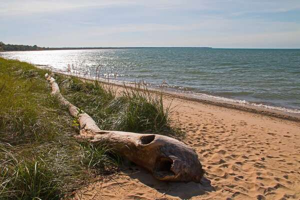Autumn can be a pleasant time to take a walk along the beach in Huron County, as seen in this shot taken recently at Jenks Park near Port Austin.