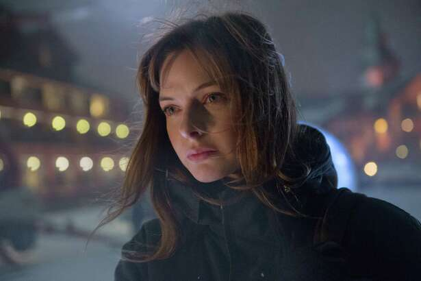 "REBECCA FERGUSON in the terrifying thriller ""The Snowman."""