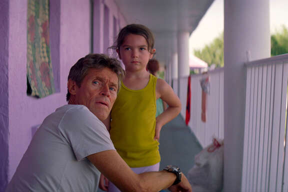 "Willem Dafoe, left, the indefatigable moral center of ""The Florida Project,"" and Brooklynn Prince."