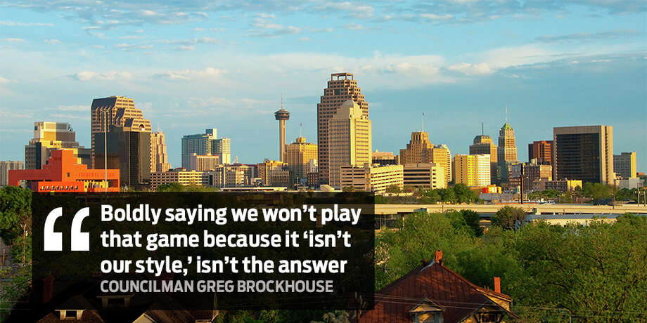 """""Boldly saying we won't play that game because it 'isn't our style,' isn't an answer."" San Antonio Councilman Greg Brockhouse responds to San Antonio not bidding for second Amazon headquarters. Photo: File"