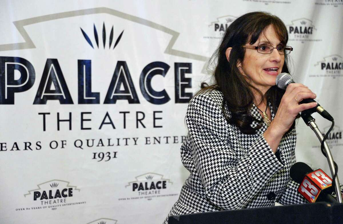 Donna Purnomo announces details of the 2018 Wine & Dine for the Arts Festival Tuesday Oct. 17, 2017 in Albany, NY. .(John Carl D'Annibale / Times Union)