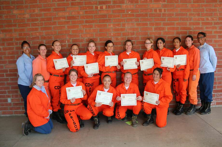 A graduating class of female inmate firefighters who have completed their training at the California Institution for Women in Chino. Photo: CDCR