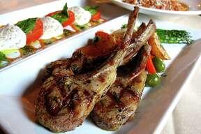 Lamb chops, a caprese salad and spaghetti bolognese from Aldo's Ristorante Italiano.