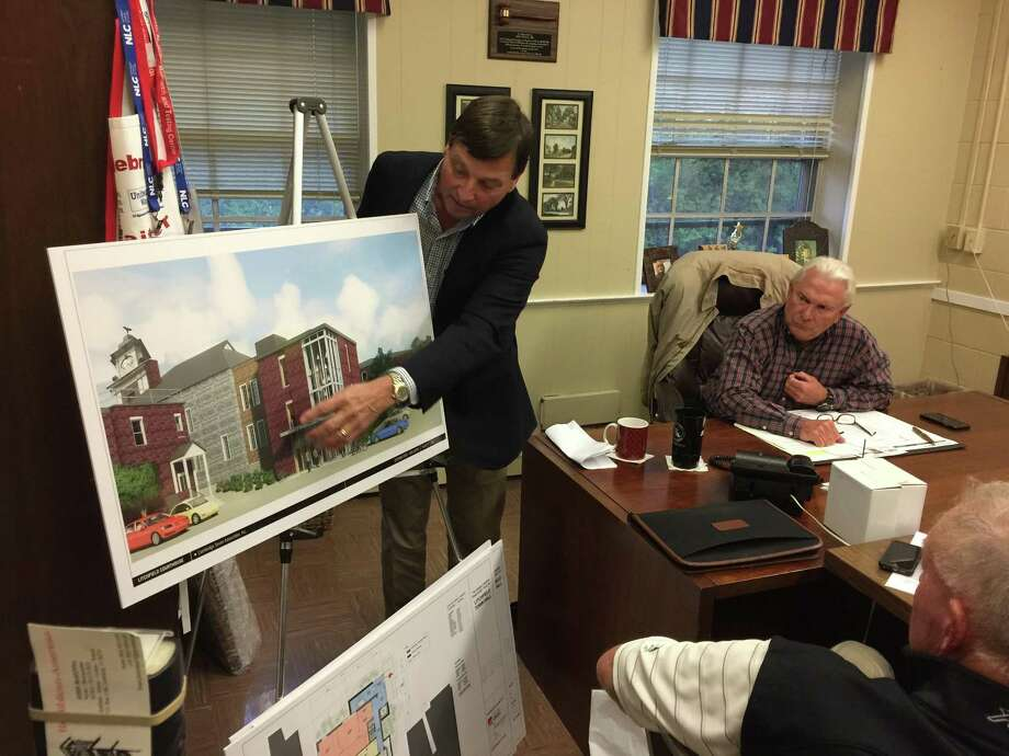 The Greater Litchfield Preservation Trust presented a plan to convert the former Litchfield Judicial District courthouse into a new Town Hall Tuesday evening. Photo: Ben Lambert / Hearst Connecticut Media / Ben Lambert / Hearst Connecticut Media