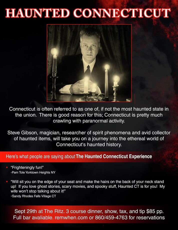"""Paranormal investigator Steve Gibson will host """"Haunted Connecticut,"""" a special dinner event at the Ritz Crystal Room at Remember When on Main Street in Torrington. Photo: Contributed Photo / Not For Resale"""