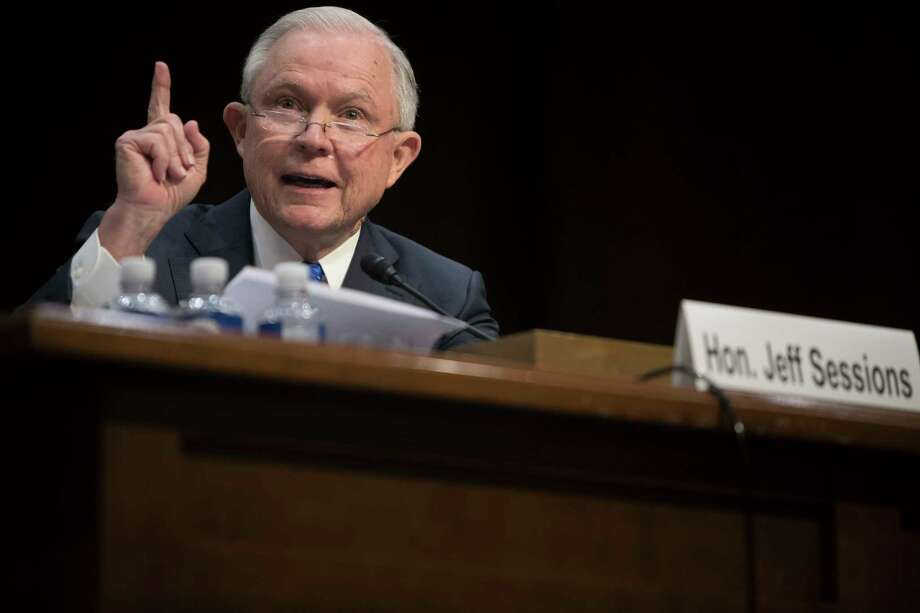Attorney General Jeff Sessions on Wednesday told lawmakers he would not discuss his conversations with President Donald Trump, citing executive privilege. Photo: TOM BRENNER, STF / NYTNS