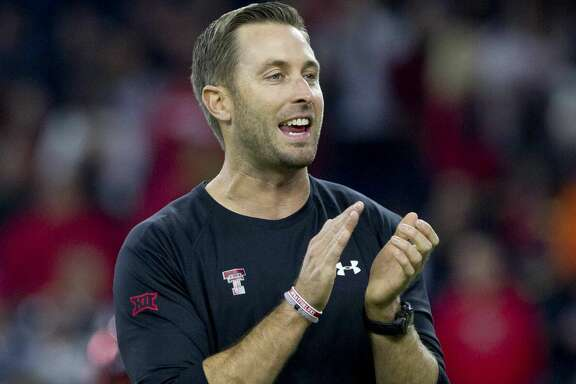 Texas Tech head coach Kliff Kingsbury is seen before an NCAA college football game Tuesday, Dec. 29, 2015, in Houston.