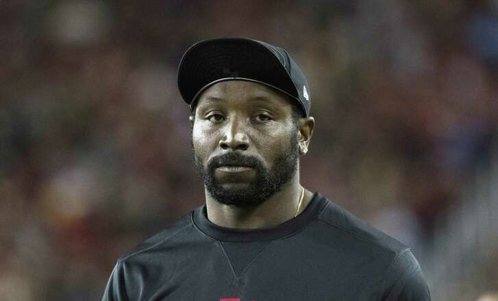 Inside linebacker NaVorro Bowman (53) of the San Francisco 49ers is seen on the sideline during his NFL preseason game against the Green Bay Packers at Levi's Stadium in Santa Clara, Calif. on Friday, Aug. 26, 2016. The Packers defeated the 49ers 21-10.