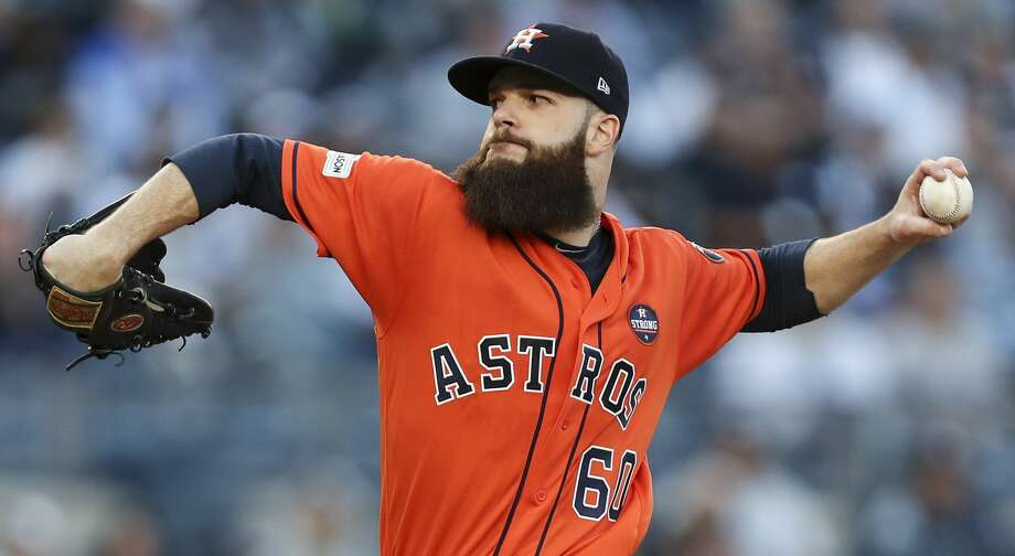 Dallas Keuchel takes the mound for the Astros on Friday night in Arlington. Photo: Michael Ciaglo/Houston Chronicle
