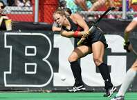 Niskayuna High School graduate Carrie Hanks of the Maryland field hockey team. (Courtesy of Maryland Athletics)
