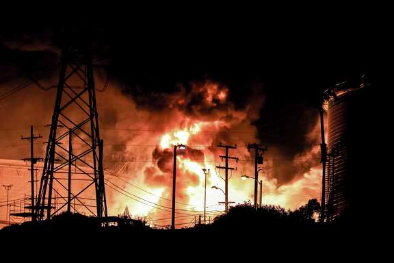 A fire rages at the Chevron El Segundo Refinery just south of Los Angeles.  It supplies 40 percent of the jet fuel at Los Angeles International Airport and has 20 percent of the gasoline market in Southern California.