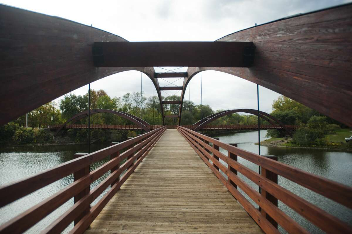 The Tridge was reopened on Tuesday, Oct. 10 for a sneak preview before renovations were finished. (Katy Kildee/kkildee@mdn.net)
