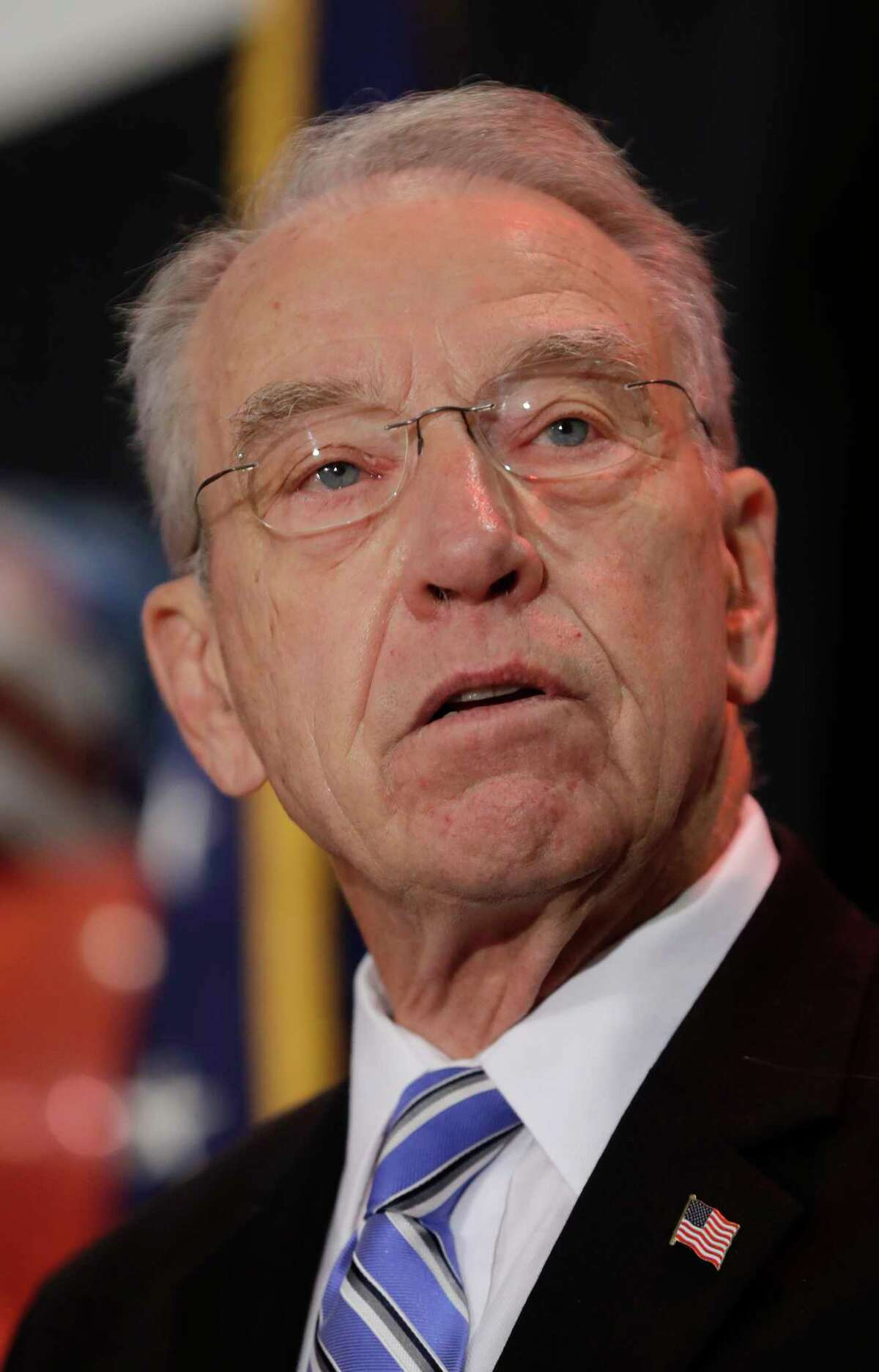 Sen. Charles Grassley, R-Iowa speaks during an election night rally, Tuesday, Nov. 8, 2016, in Des Moines, Iowa. (AP Photo/Charlie Neibergall)