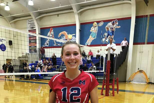 Brien McMahon's Taylor Morton recorded her 1,000th career kill on Wednesday, Oct., 18, 2017. She is the second McMahon player to ever achieve the feat.