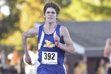 Newtown's Nick Jacobs (392) finished fifth in the boys Cross Country SWC championships, Wednesday afternoon, October 18, 2017, at Bethel High School, Bethel, Conn.
