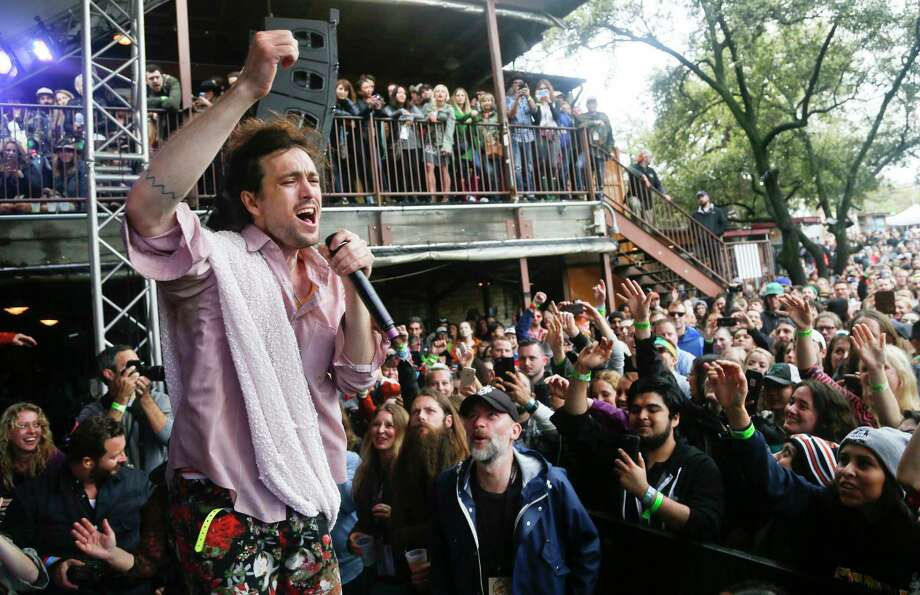 Edward Sharpe and the Magnetic Zeros perform at the Rachael Ray Feedback Party during the SXSW Music Festival in Austin, Texas, on March 21, 2015. Houston's startup community is planning to use this year's trendy conference to help boost the city's entrepreneurial appeal. (Photo by Jack Plunkett/Invision/AP, File) Photo: Jack Plunkett, INVL / Invision