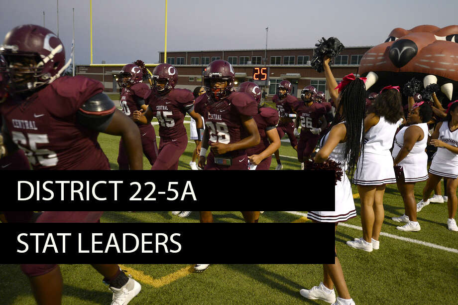 District 22-5A stat leaders heading into Week 8. (Enterprise file photo)