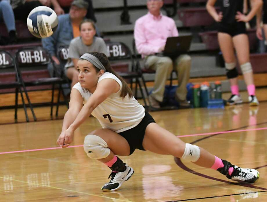 Burnt Hills' Grace Isaksen hits the ball during a volleyball match against Shenendehowa on Wednesday, Oct 18, 2017 in Burnt Hills, N.Y. (Lori Van Buren / Times Union) Photo: Lori Van Buren / 20041868A