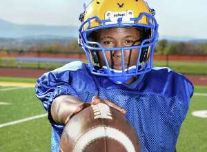 Hudson senior running back Willie Walker during practice at the school Wednesday Oct. 18, 2017 in Hudson, NY.  (John Carl D'Annibale / Times Union)