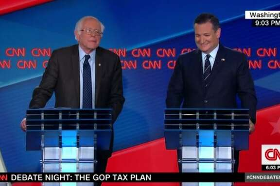 U.S. Sens. Ted Cruz and Bernie Sanders debated for 90 minutes on CNN on Wednesday about tax cut plans being touted by President Donald Trump and some Republican member of Congress.