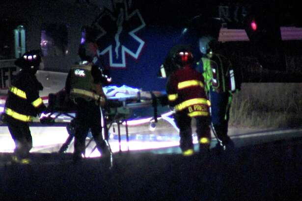Authorities said a call came out for a wrong way driver on Loop 1604 near Blanco Road around 2:30 a.m. Shortly afterwards, the driver smashed into the woman near Bulverde Road.