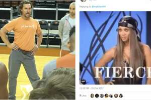 A photo of Matthew McConaughey with his hips popped at a University of Texas men's basketball practice has become the internet's latest obsession.