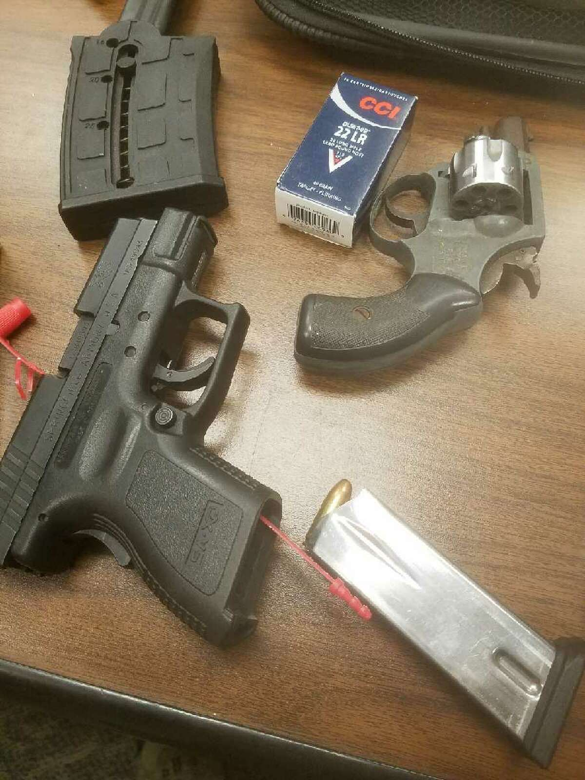 Fire arms and hydroponic marijuana were seized from a Port Arthur home during an October 18, 2017 search warrant, according to the Jefferson County Sheriff's Office. Photos: JCSO