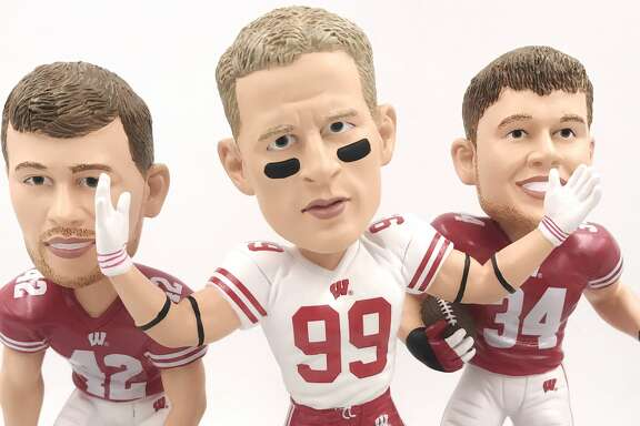 A limited edition triple bobblehead featuring all 3 Watt brothers in Wisconsin uniforms was released on Thursday.