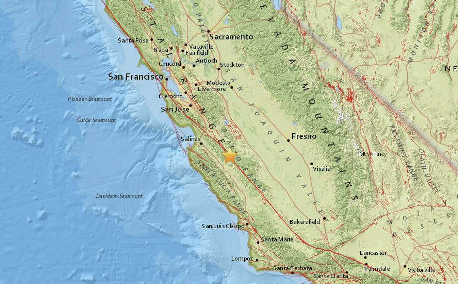 A magnitude 3.8 earthquake struck near Greenfield, California on Thursday morning. Photo: USGS