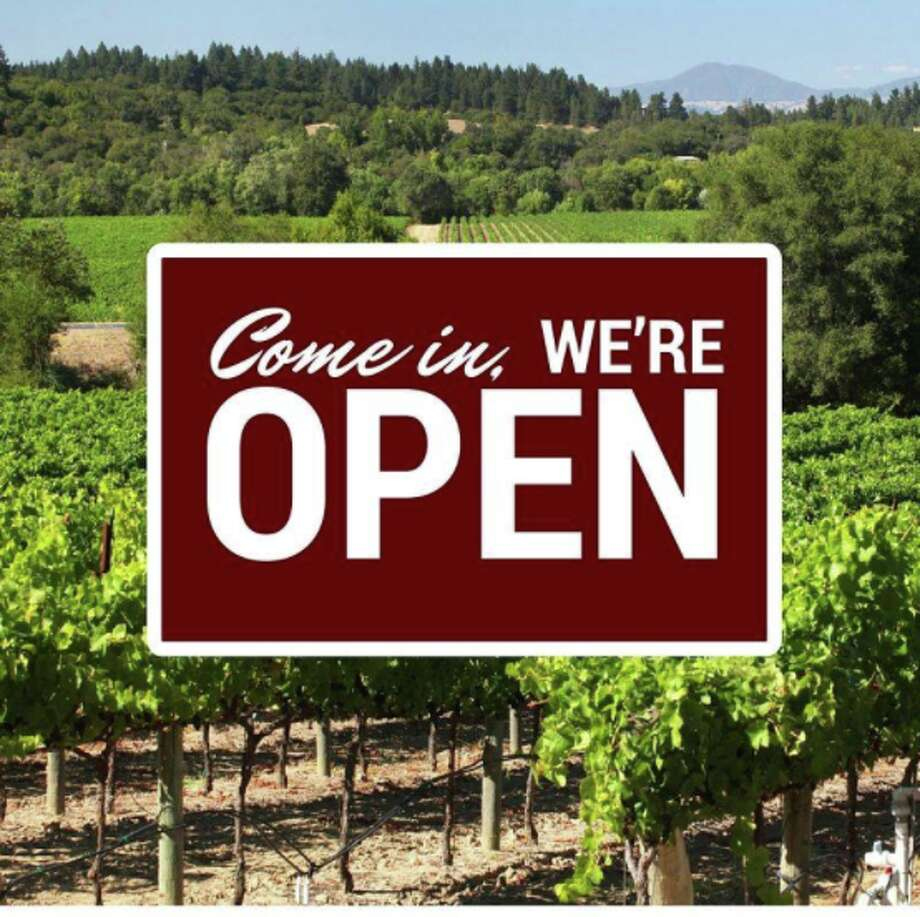Hundreds of wineries with tasting rooms are open in Napa, Sonoma and Mendocino counties. Wine Road posted a list of open wineries in Northern Sonoma County along with this image. Photo: Wine Road