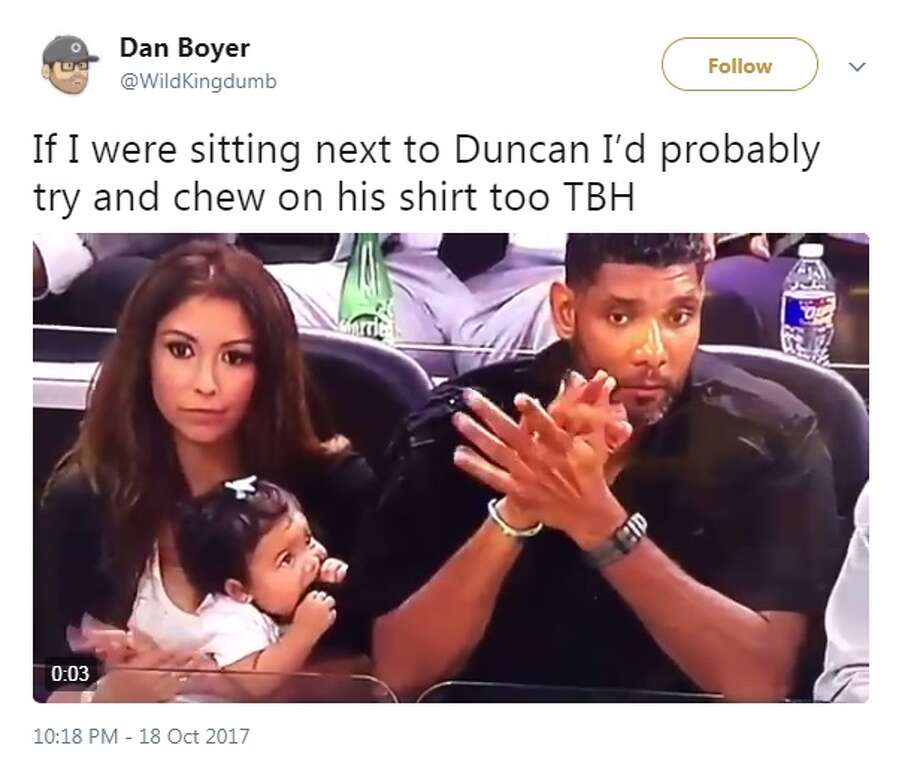 Internet reacts to 'Teacup Duncan's' adorable first Spurs ... Vanessa Macias Baby