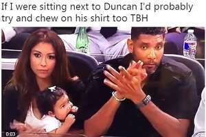 @WildKingdumb: If I were sitting next to Duncan I'd probably try and chew on his shirt too TBH