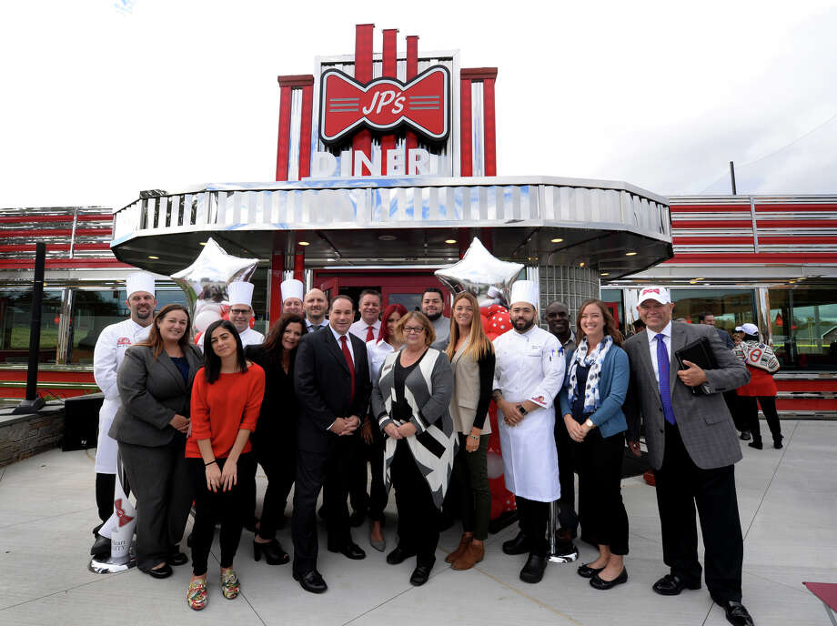 Sacred Heart University celebrates its newest dining facility, JP's Diner, in a ribbon-cutting ceremony on Monday, Oct. 16, 2017. Photo: Contributed/Tracy Deer-Mirek, Sacred Heart University