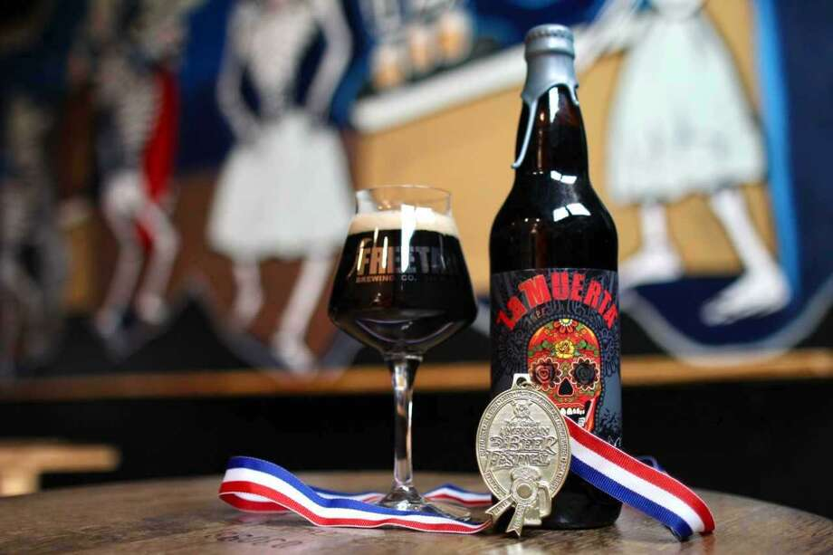 Freetail La Muerta's 2014 vintage received the gold medal for aged beer at the Great American Beer Festival. Photo: Markus Haas / San Antonio Express-News / San Antonio Express-News