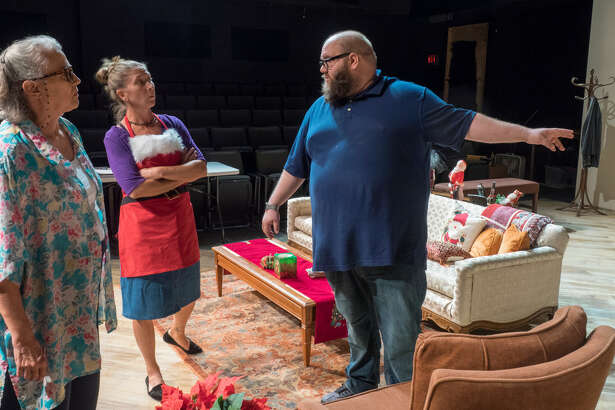 "Actor Daniel Collins,right, finds himself in the director's seat with the 2016 McLaren Comedy Festival's winning show, ""A Nice Family Christmas,"" which opens Friday"
