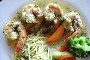 Shrimp in white wine and lemon sauce from Aldino at The Vineyard.