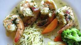 Shrimp in white wine and lemon sauce from Aldino at The Vineyard.