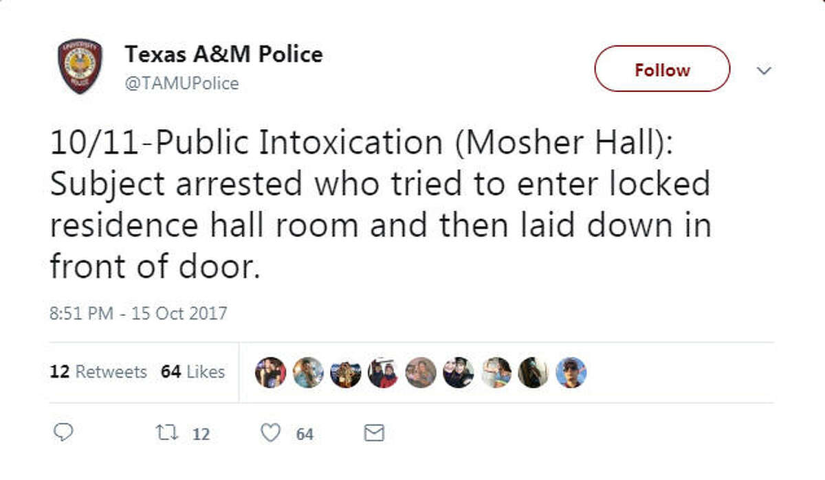 The funniest cases the Texas A&M University police force has had to tackle, as told by their Twitter account.