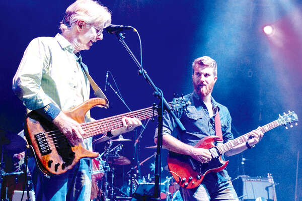 Phil Lesh, left, and his son Grahame regularly jam together in the Terrapin Family Band.