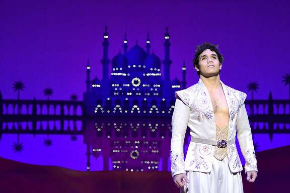 "San Francisco's Adam Jacobs plays the title role in the national tour of the Disney musical ""Aladdin."""