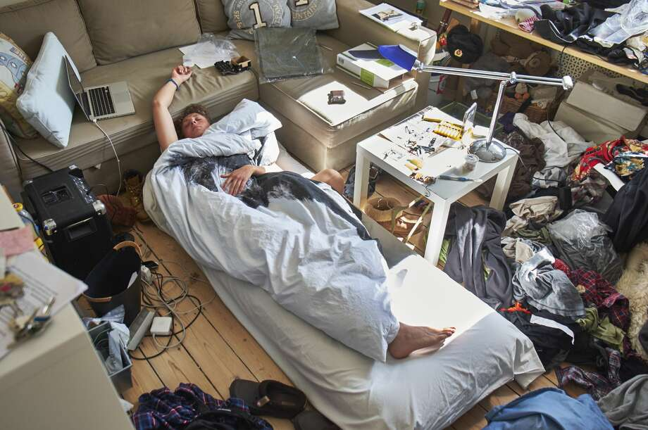 A mom worries about her son who is a hoarder. Photo: Niels Busch/Getty Images