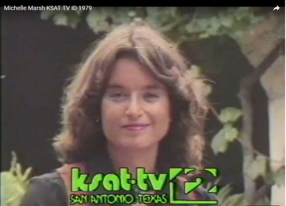 Michele Marsh in a promo during her KSAT-TV anchoring days in the late 1970s. Photo: Screen Grab /KSAT
