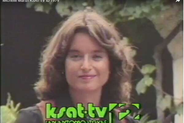 Michele Marsh in a promo during her KSAT-TV anchoring days in the late 1970s.