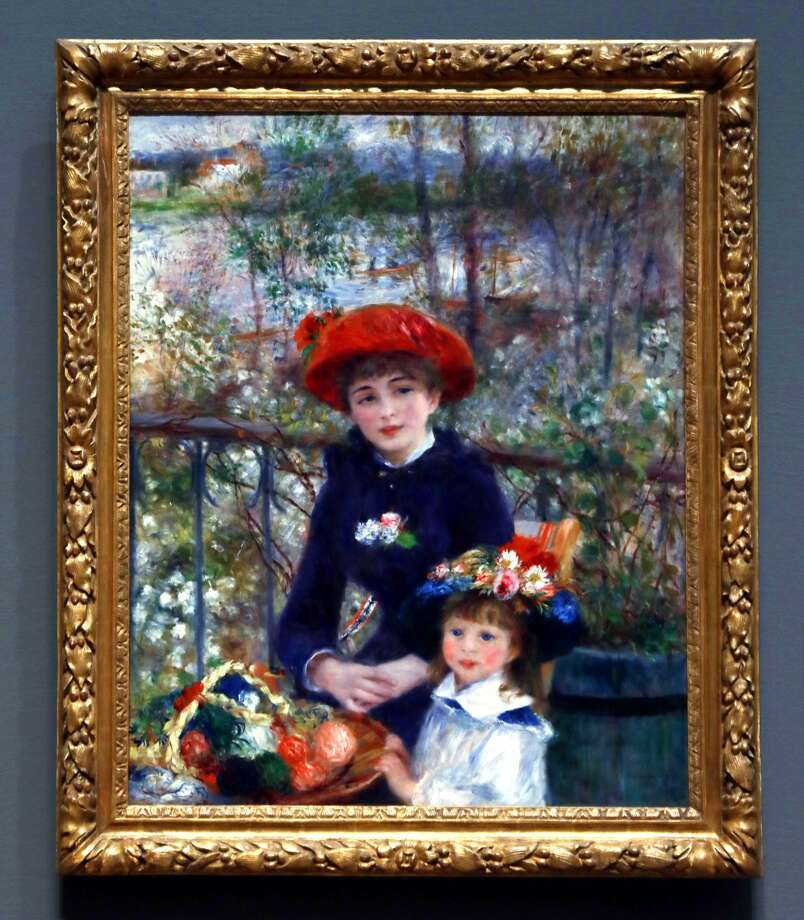 "Pierre Auguste Renoir's ""Two Sisters"" (1881) hangs in Chicago's Art Institute on Wednesday, Oct. 18, 2017. President Trump made a claim that he had the original in his possession. Photo: Phil Velasquez/Chicago Tribune/TNS"