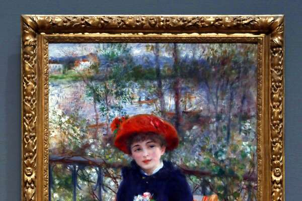 "Pierre Auguste Renoir's ""Two Sisters"" (1881) hangs in Chicago's Art Institute on Wednesday, Oct. 18, 2017. President Trump made a claim that he had the original in his possession."