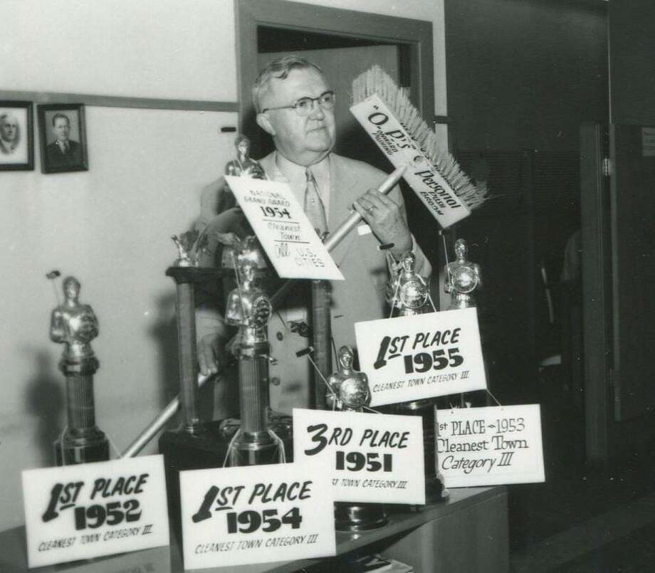 """O.P. Schnabel, nicknamed """"Old Pushbroom for his long-runing cleanup crusade for the city, won awards for his efforts and left a big legacy as one of the founders of the Beautify Texas Council. Photo: Courtesy UTSA Special Collections"""