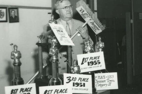 """O.P. Schnabel, nicknamed """"Old Pushbroom for his long-runing cleanup crusade for the city, won awards for his efforts and left a big legacy as one of the founders of the Beautify Texas Council."""