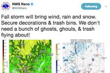 The National Weather Service warned people of a winter storm coming to the Sierra Oct. 19. 2017.
