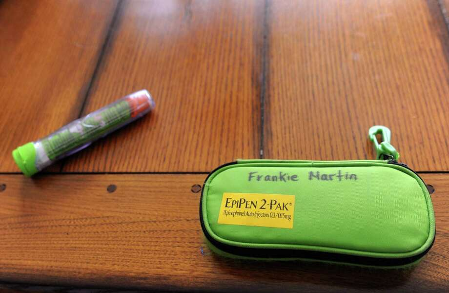 An EpiPen which is used to stop allergic reactions Photo: Autumn Driscoll / Autumn Driscoll / Connecticut Post
